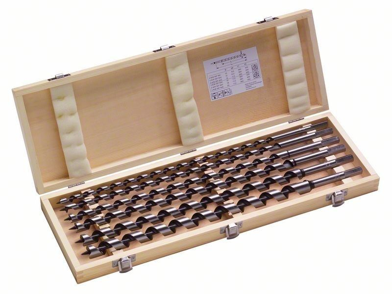 Hex Shank 6pcs Auger Drill Bits To Make Holes In Wood 460mm Length