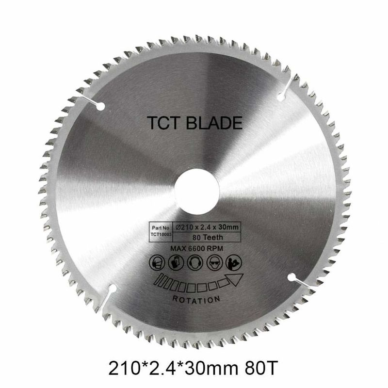 6600RPM	TCT Circular Saw Blade 80T , Multi Functions Rotation Cutting Tools
